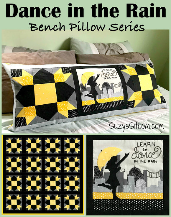 Bench Pillow Series- Dance in the Rain (April)