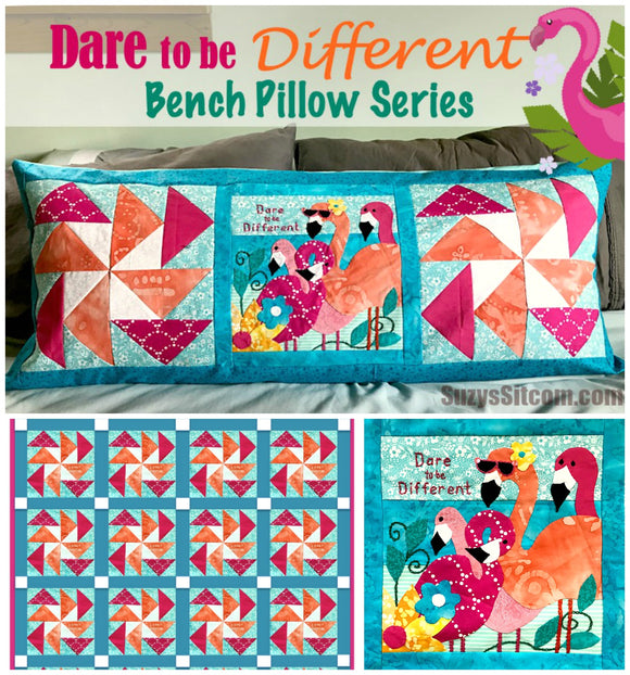 Bench Pillow Series- Dare to be Different (August)