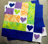 Hearts in a Row Digital Quilt Pattern