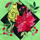 Holiday for the Birds Block 5- Poinsettia