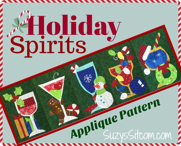 Holiday Spirits Table Runner Digital Pattern