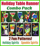 Holiday Table Runner Combo Pack- 2 Fun Patterns!