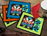 Love Birds and Pinwheels Digital Quilt Pattern