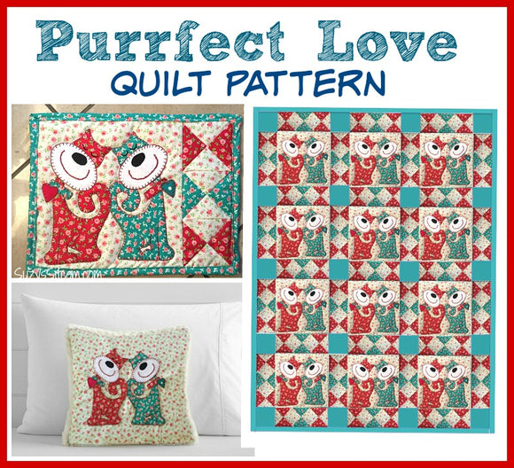 Purrfect Love Digital Quilt Pattern