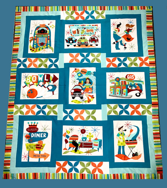 Retro Flash Paper Quilt Pattern