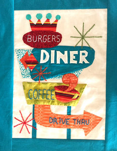 Retro Flash Block #1- Diner