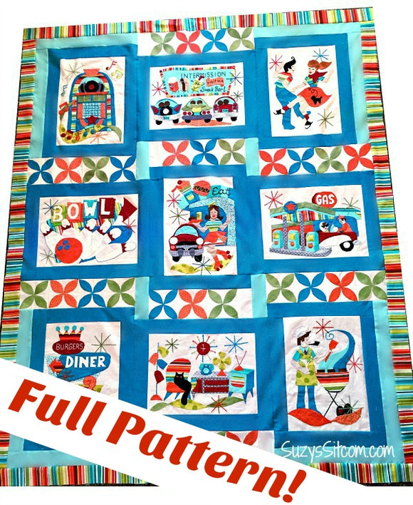 Retro Flash Digital Quilt Pattern