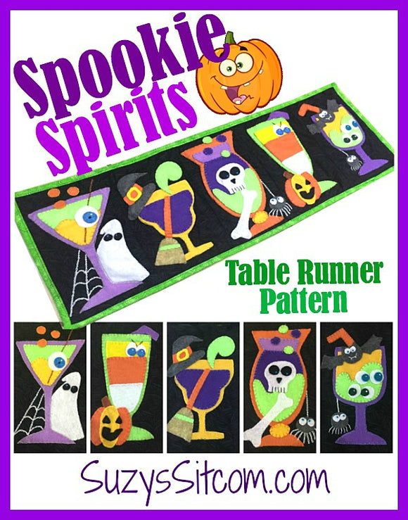 Spookie Spirits Table Runner Digital Pattern