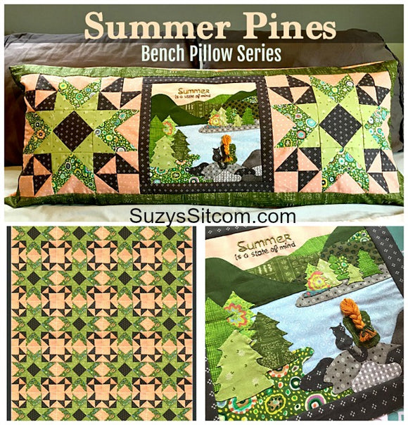 Bench Pillow Series- Summer Pines (June)
