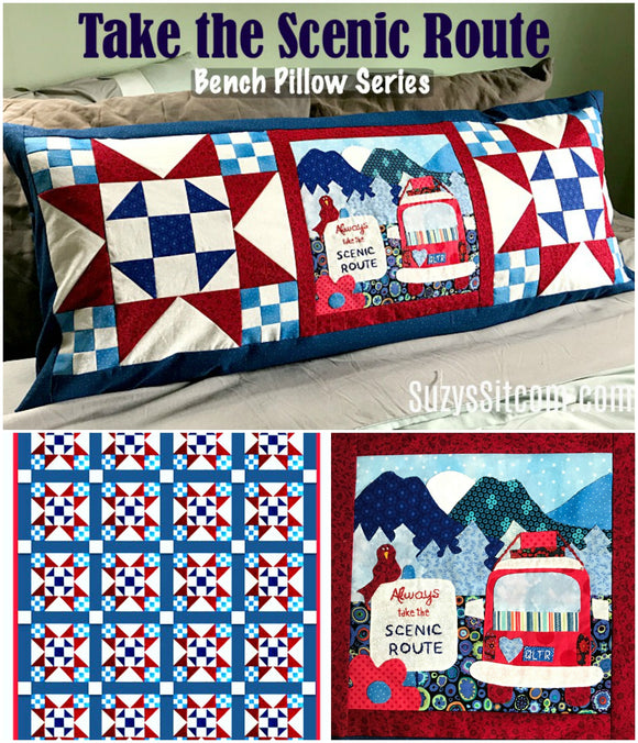 Bench Pillow Series- Take the Scenic Route (JULY)
