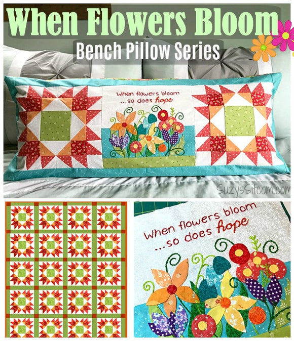 Bench Pillow Series- When Flowers Bloom (May)