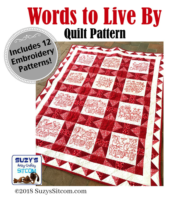 Words to Live By Quilt Pattern