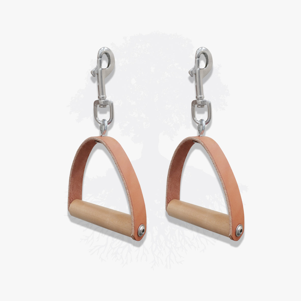 Pilates Lineage Pair of Apparatus Handles in Natural Leather