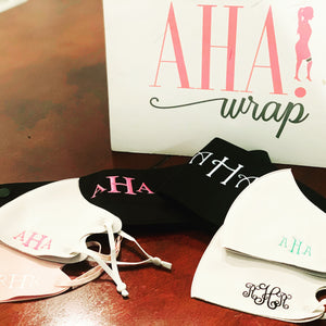 Face Masks with Custom Monogram