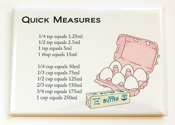 Eggs & Butter Quick Conversion Magnet - Kelly's Handmade