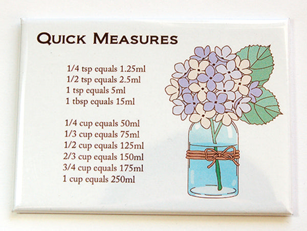 Flower Quick Measure Conversion Magnet - Kelly's Handmade