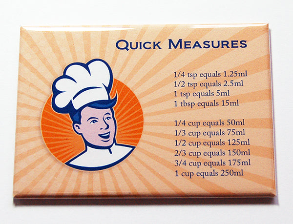 Chef Quick Conversion Magnet in Orange - Kelly's Handmade