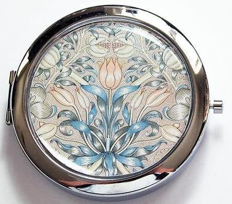 Decorative Arts Floral Compact Mirror - Kelly's Handmade