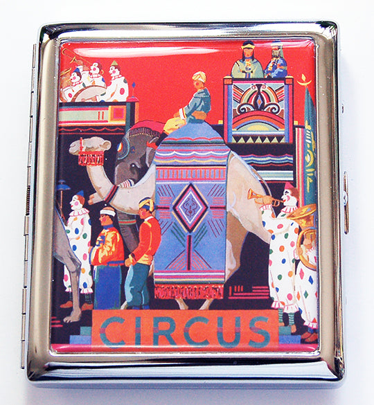 Circus Compact Cigarette Case - Kelly's Handmade