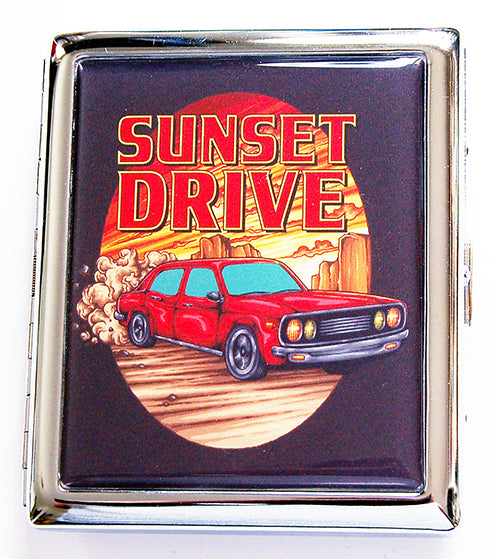 Sunset Drive Compact Cigarette Case - Kelly's Handmade