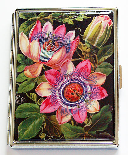 Floral Slim Cigarette Case in Pink & Green - Kelly's Handmade
