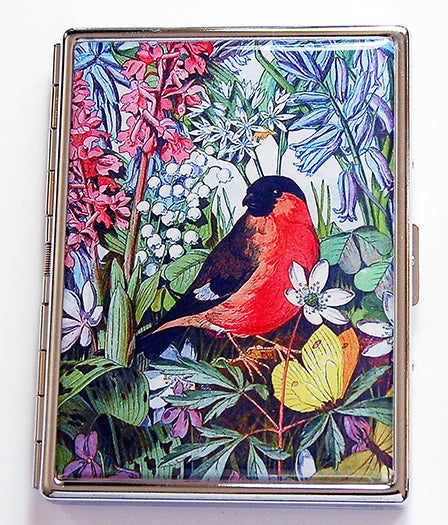 Flower & Birds Slim Cigarette Case - Kelly's Handmade