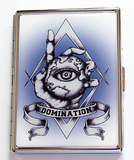 World Domination Slim Cigarette Case - Kelly's Handmade