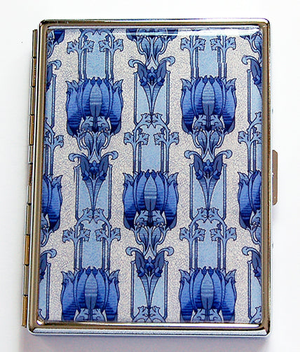 Venetian Design Slim Cigarette Case in Blue - Kelly's Handmade