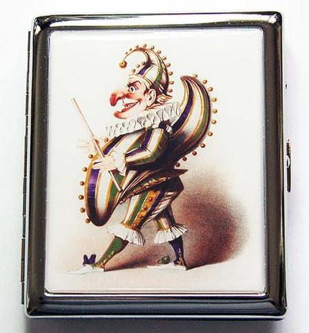 Jester Compact Cigarette Case - Kelly's Handmade