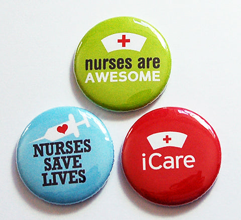 Nurses Are Awesome Magnet Trio - Kelly's Handmade