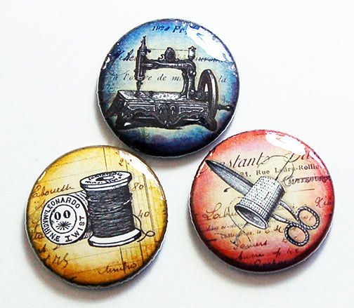 Sewing Magnet Trio - Kelly's Handmade