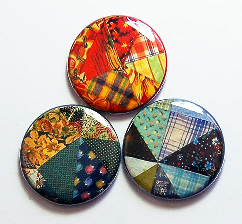Patchwork Quilt Magnet Trio - Kelly's Handmade