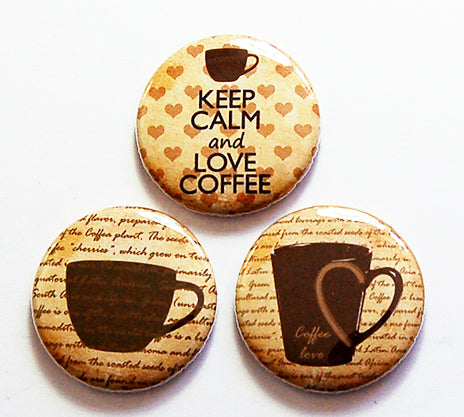 Coffee Lover Magnet Trio - Kelly's Handmade
