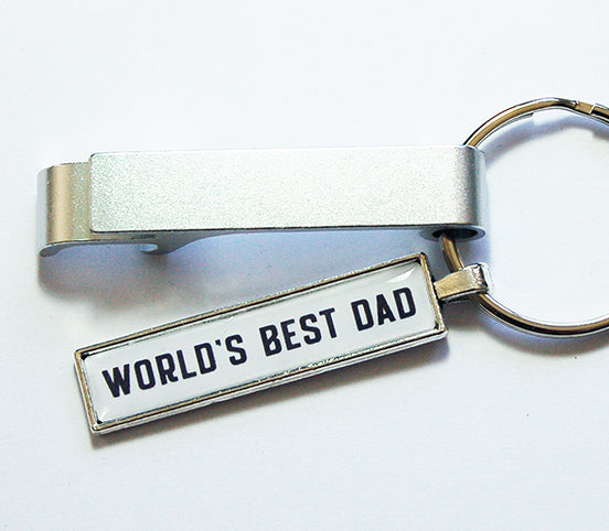 World's Best Dad Keychain Bottle Opener - Kelly's Handmade