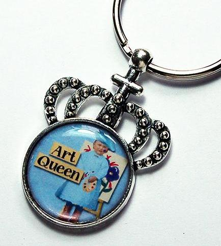 Art Queen Crown Keychain - Kelly's Handmade