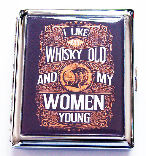 I Like My Whisky Old Compact Cigarette Case - Kelly's Handmade