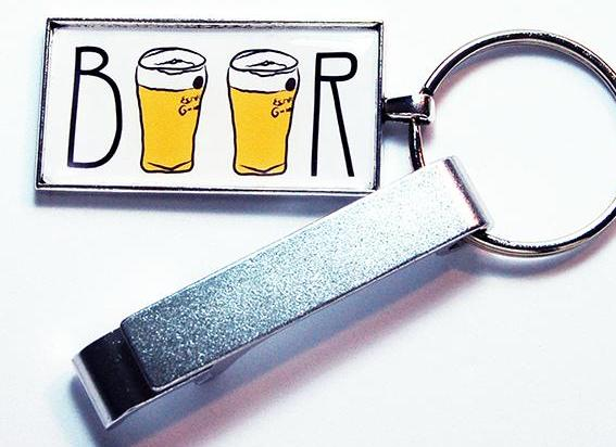 Beer Keychain Bottle Opener - Kelly's Handmade