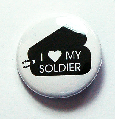 I Love My Soldier Pin - Kelly's Handmade