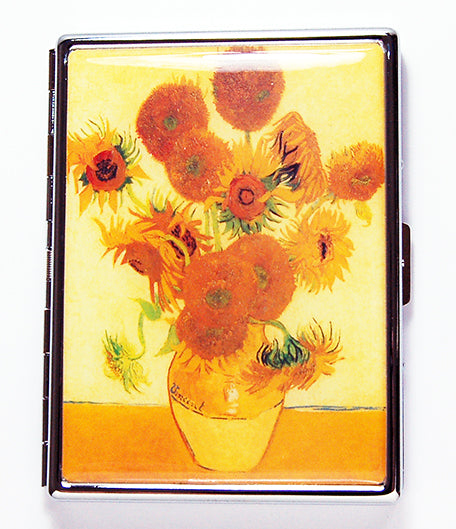 Van Gogh's Sunflowers Slim Cigarette Case - Kelly's Handmade