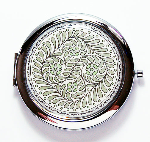 Leaf Compact Mirror Retro Design - Kelly's Handmade