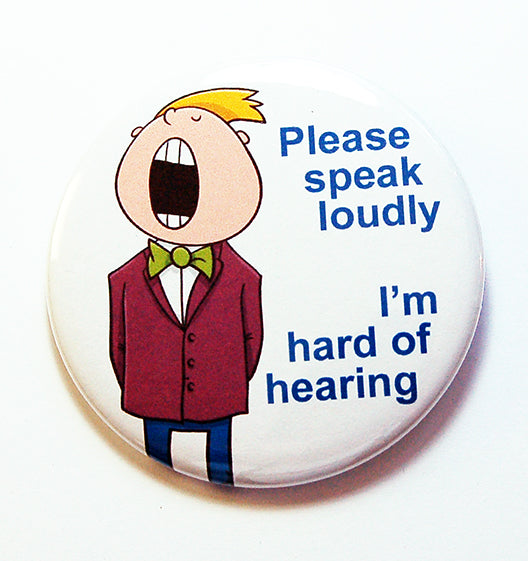 Please Speak Loudly Boy Pin - Kelly's Handmade
