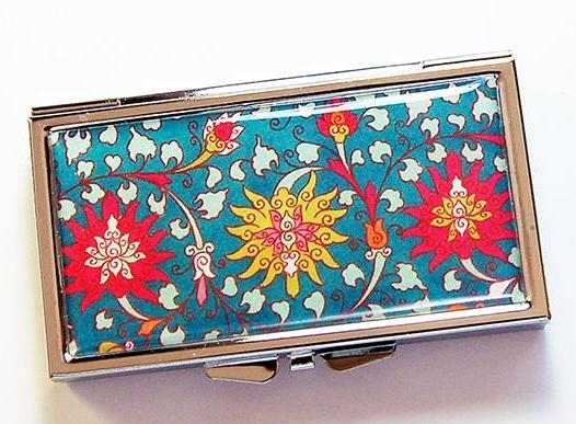 Venetian Pattern 7 Day Pill Case in Bright Colors - Kelly's Handmade