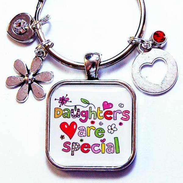 Daughters Are Special Keychain - Kelly's Handmade