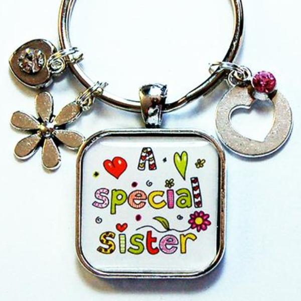 A Special Sister Keychain - Kelly's Handmade