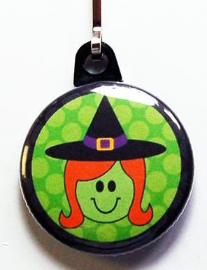 Halloween Witch Zipper Pull - Kelly's Handmade