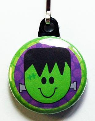 Halloween Frankenstein Zipper Pull - Kelly's Handmade