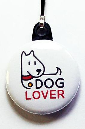 Dog Lover Zipper in White - Kelly's Handmade
