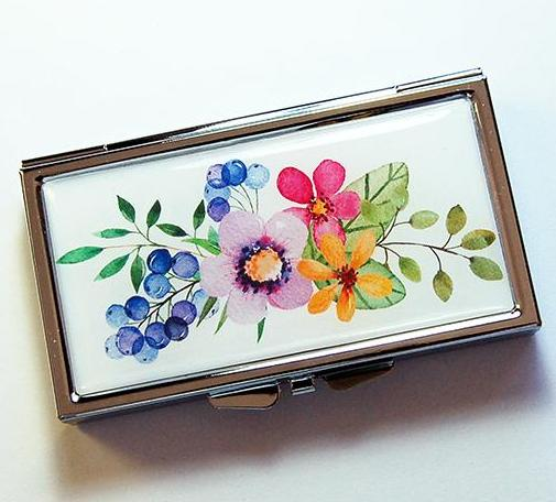 Spring Flowers 7 Day Pill Case - Kelly's Handmade