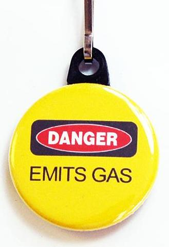 Danger Emits Gas Zipper Pull - Kelly's Handmade