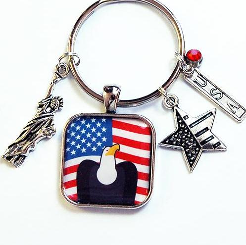 USA Eagle Keychain - Kelly's Handmade